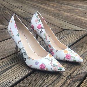 Nine West Spring Floral Print Pump Heels